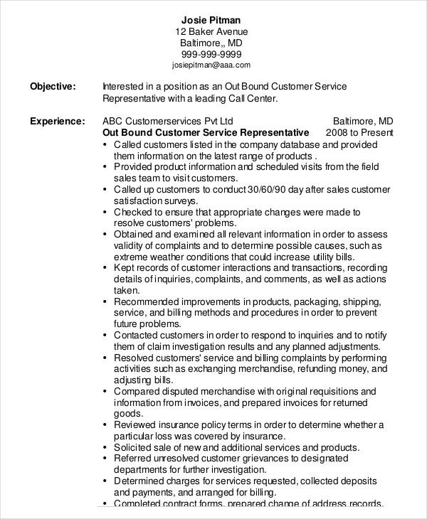 11 Inspirational Customer Service Resume Objective Or Summary Examples for Pics