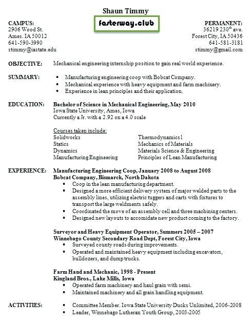 12 Great Auto Mechanic Resume Objective Examples for Pics