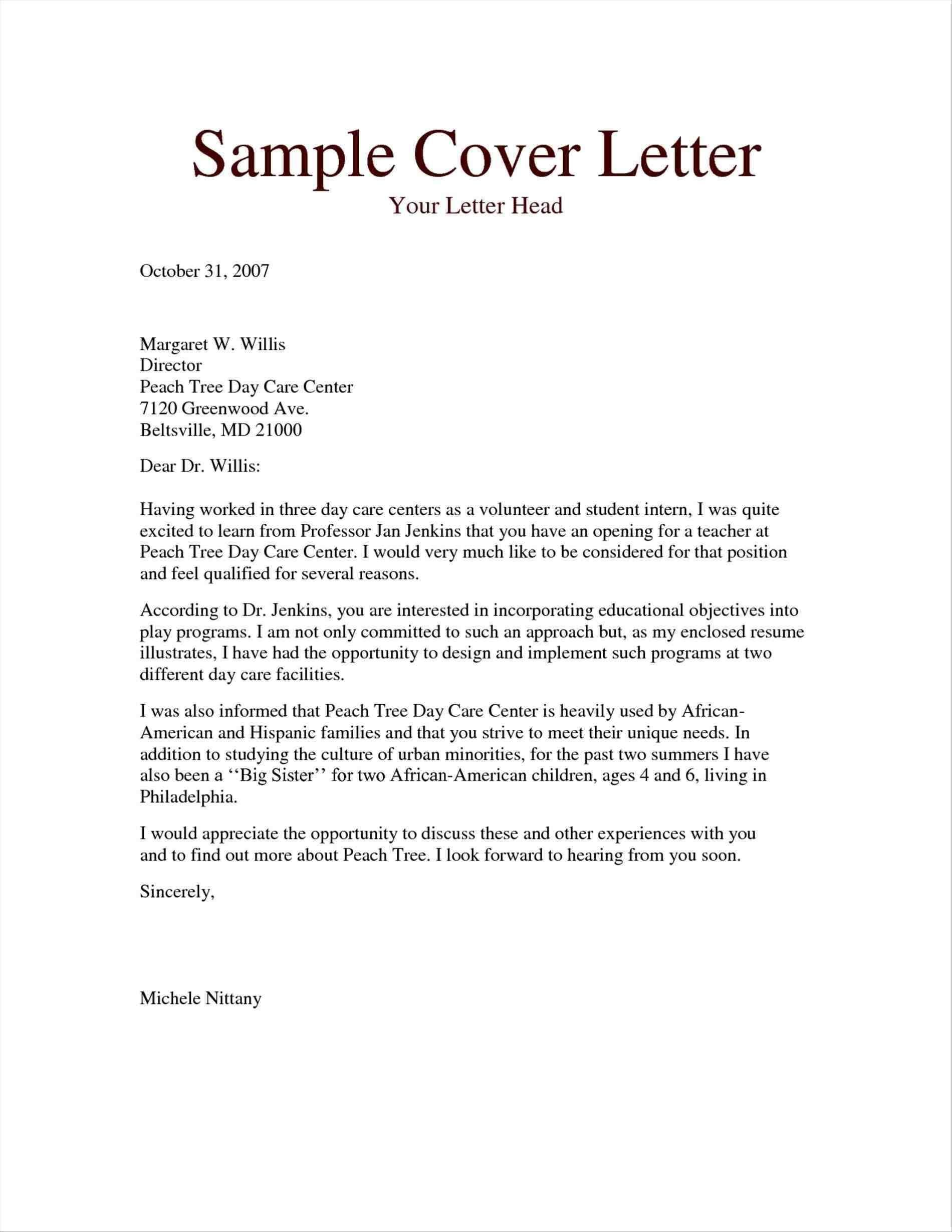 12 Inspirational Free Cover Letter Examples with Pics