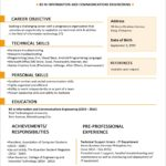 12 Stunning One Page Resume Format For Freshers by Graphics