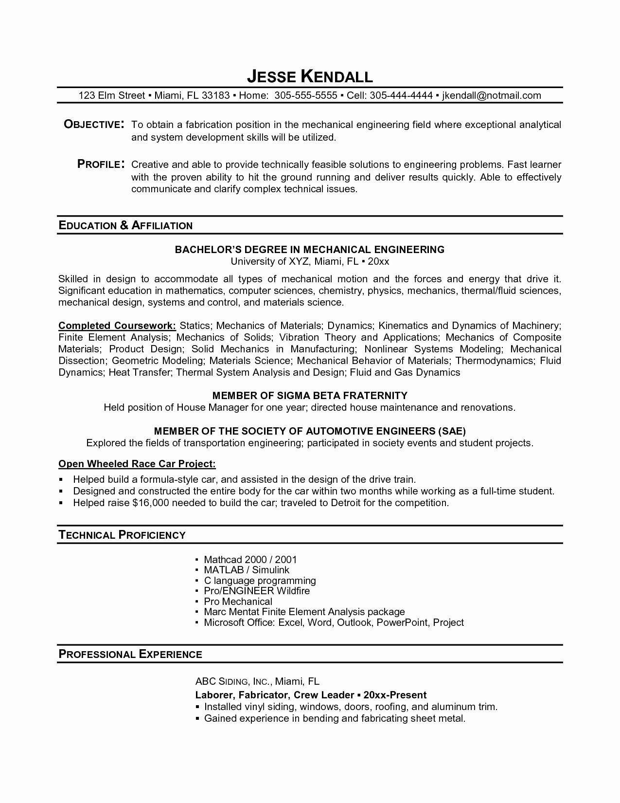 12 Top Mechanical Engineer Resume Sample for Graphics