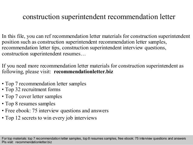 13 Beautiful Construction Superintendent Resume Cover Letter Examples with Ideas