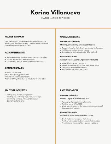 13 Great Free Online Resume Templates Australia for Design