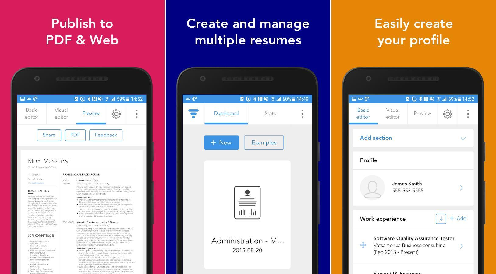 13 Inspirational Best Free Resume Builder App 2018 for Ideas