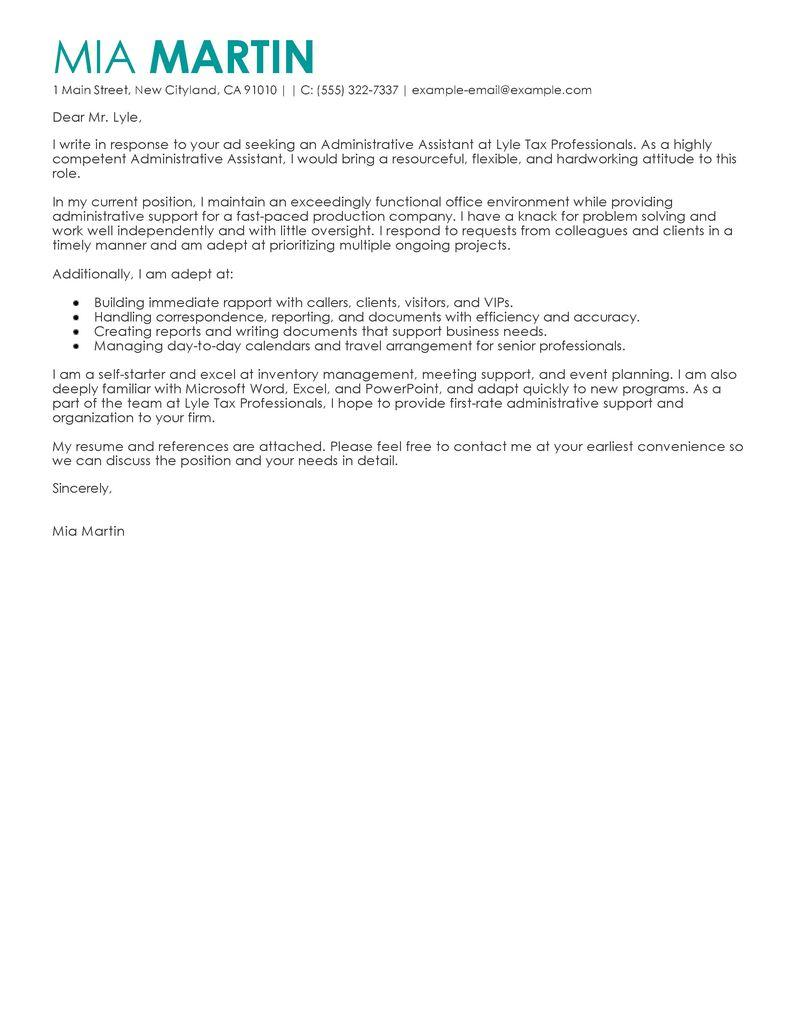13 Nice Administration Cover Letter Sample with Graphics