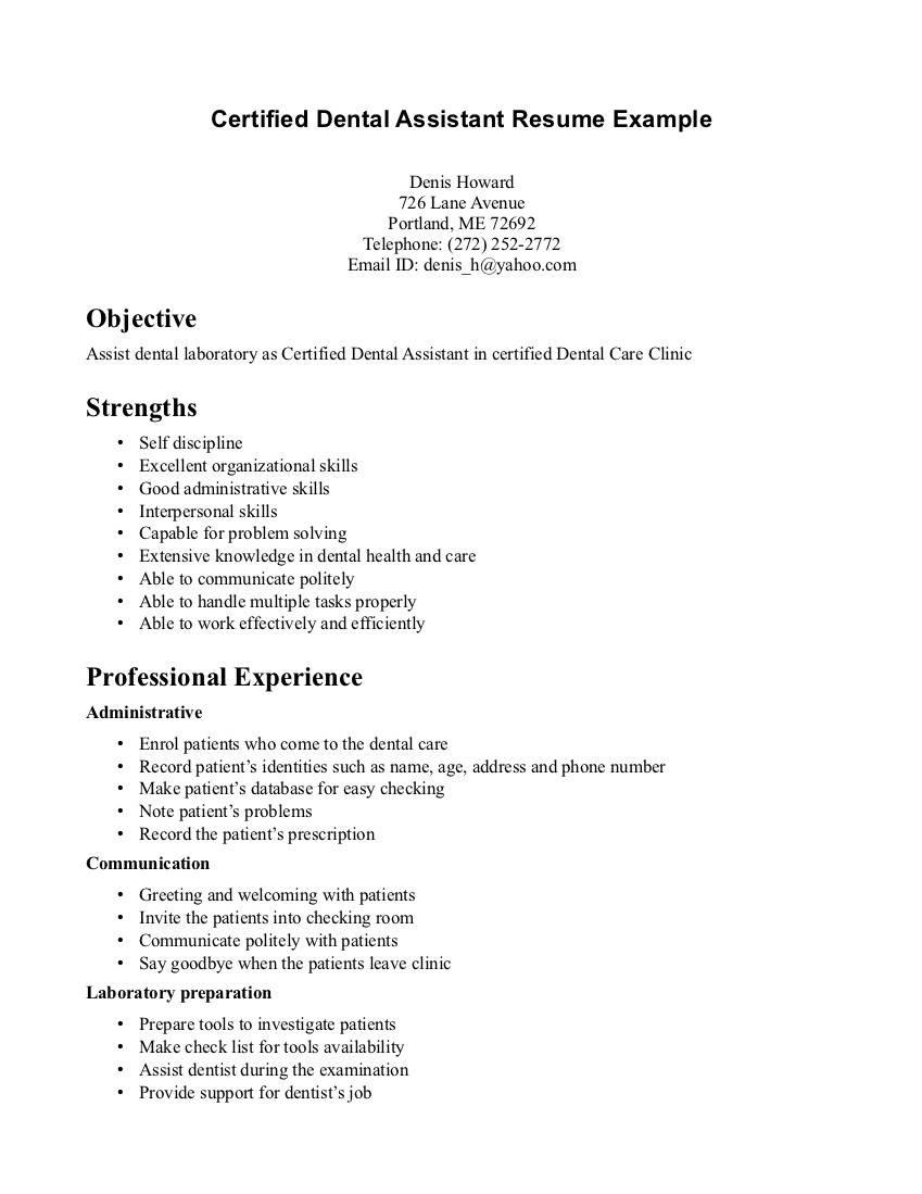 13 Nice Dental Assistant Resume Skills Examples for Pictures