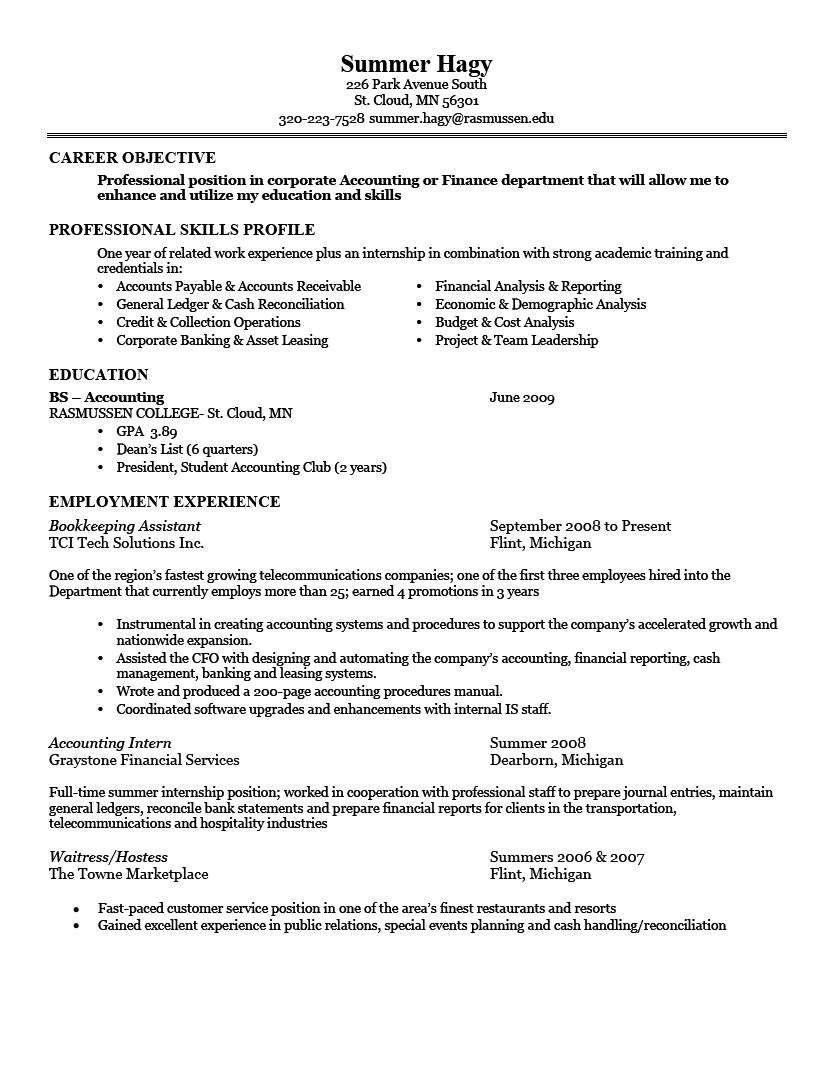 13 Nice Sample Of A Good Resume Format for Ideas