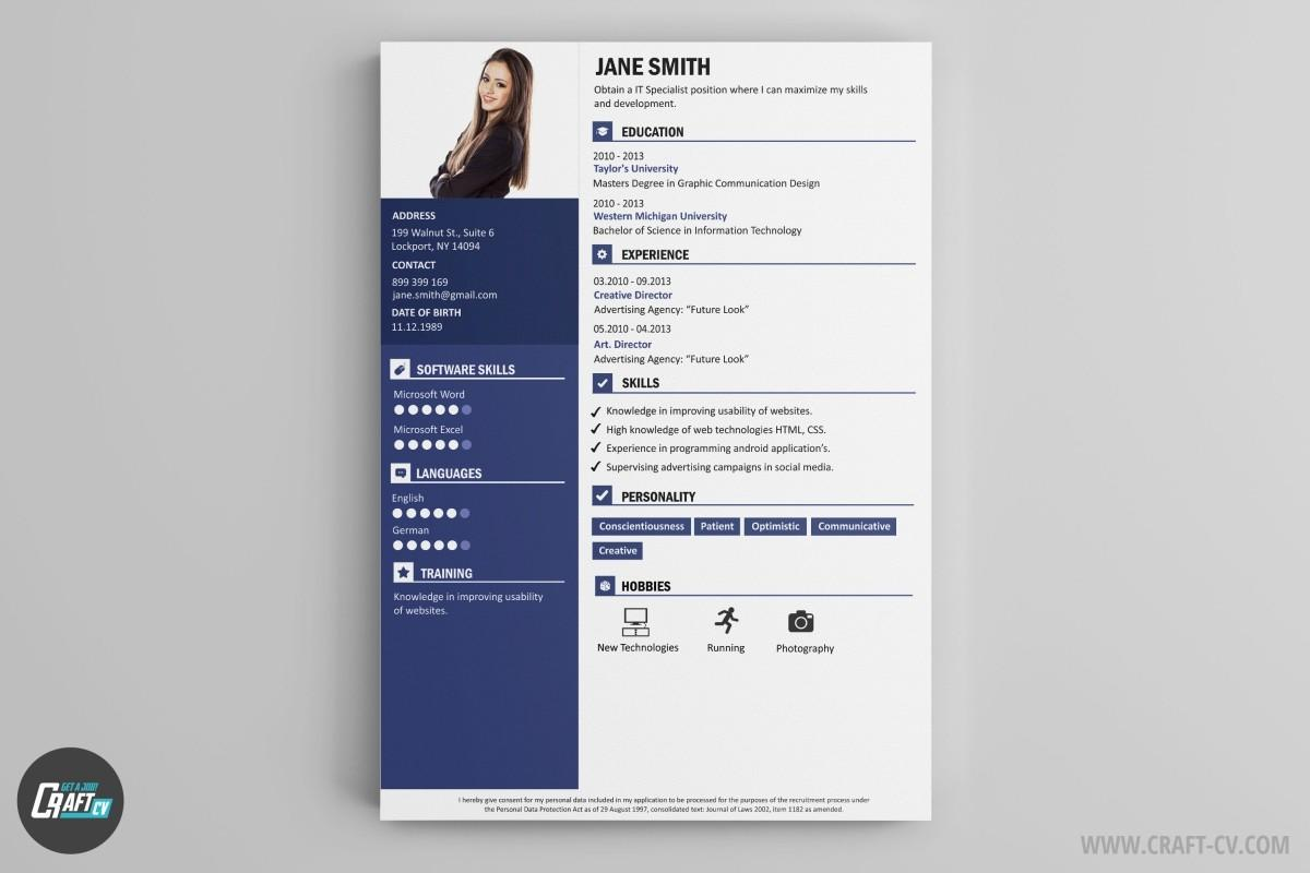 14 Excellent Modern Curriculum Vitae with Design