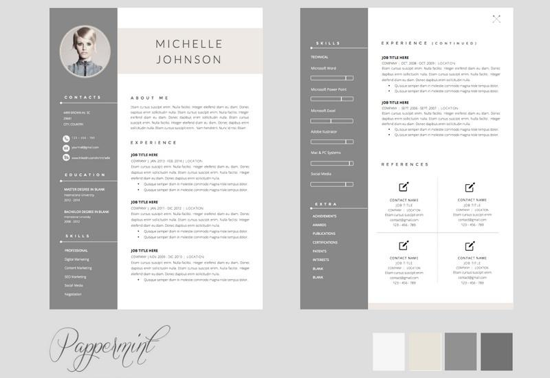 14 New Free Pages Resume Templates by Design