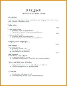 15 Cool Easy Resume Examples for Ideas