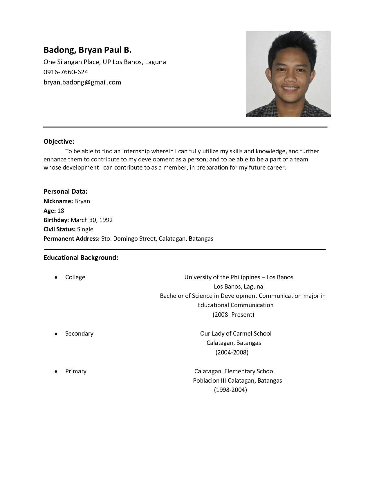 15 Excellent Resume Format Examples by Gallery