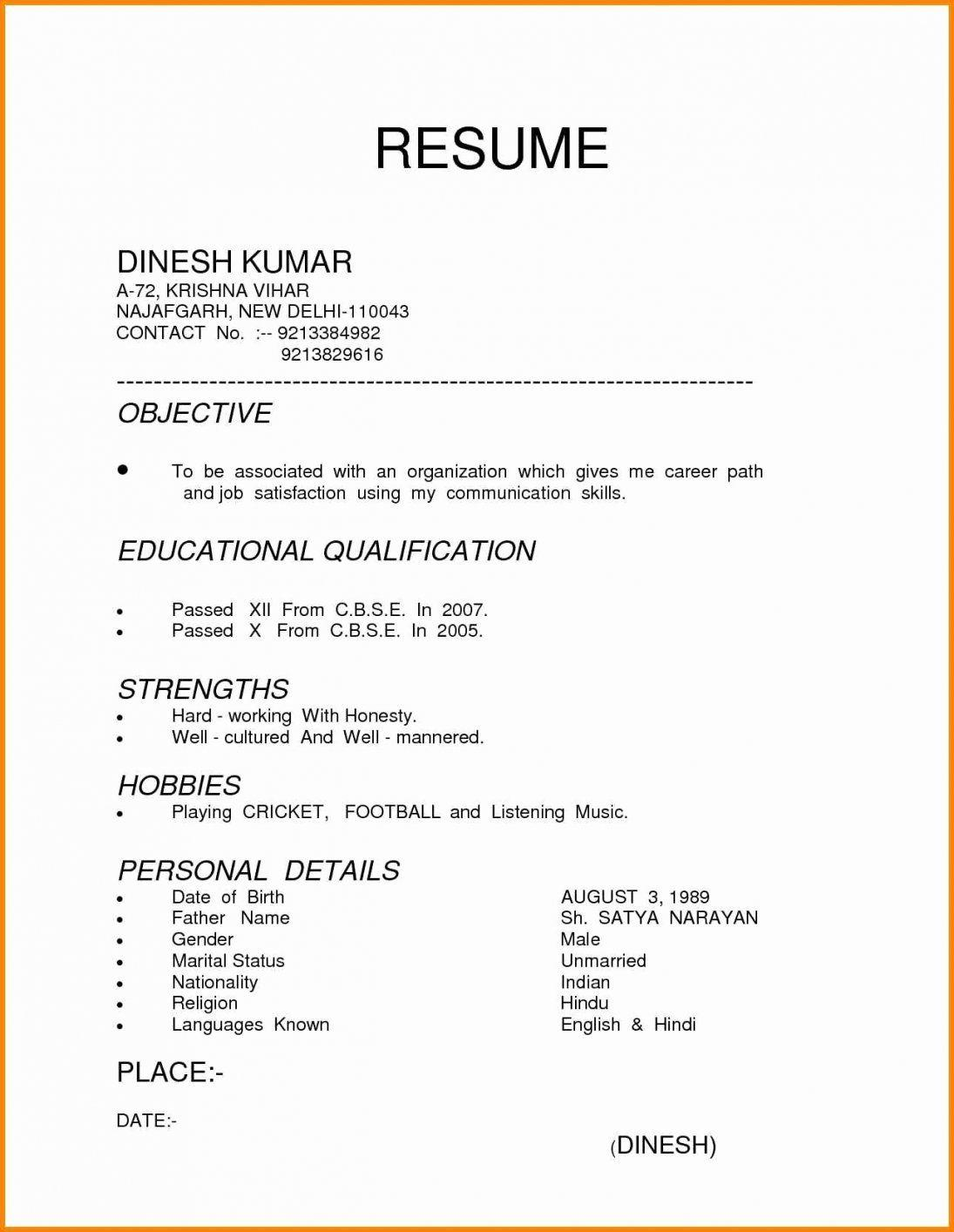 15 Top Proper Resume Format Examples for Images