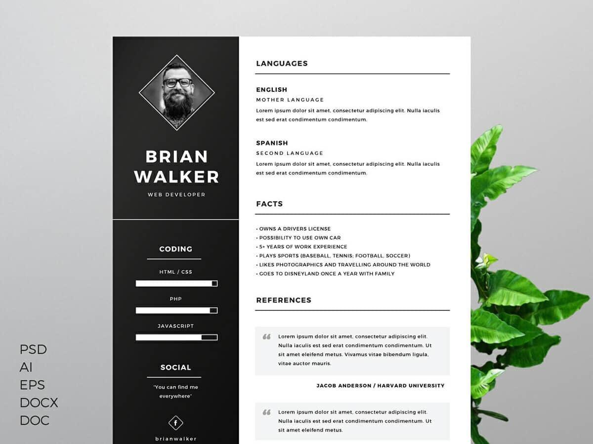 16 Best Free Creative Resume Templates Microsoft Word by Graphics