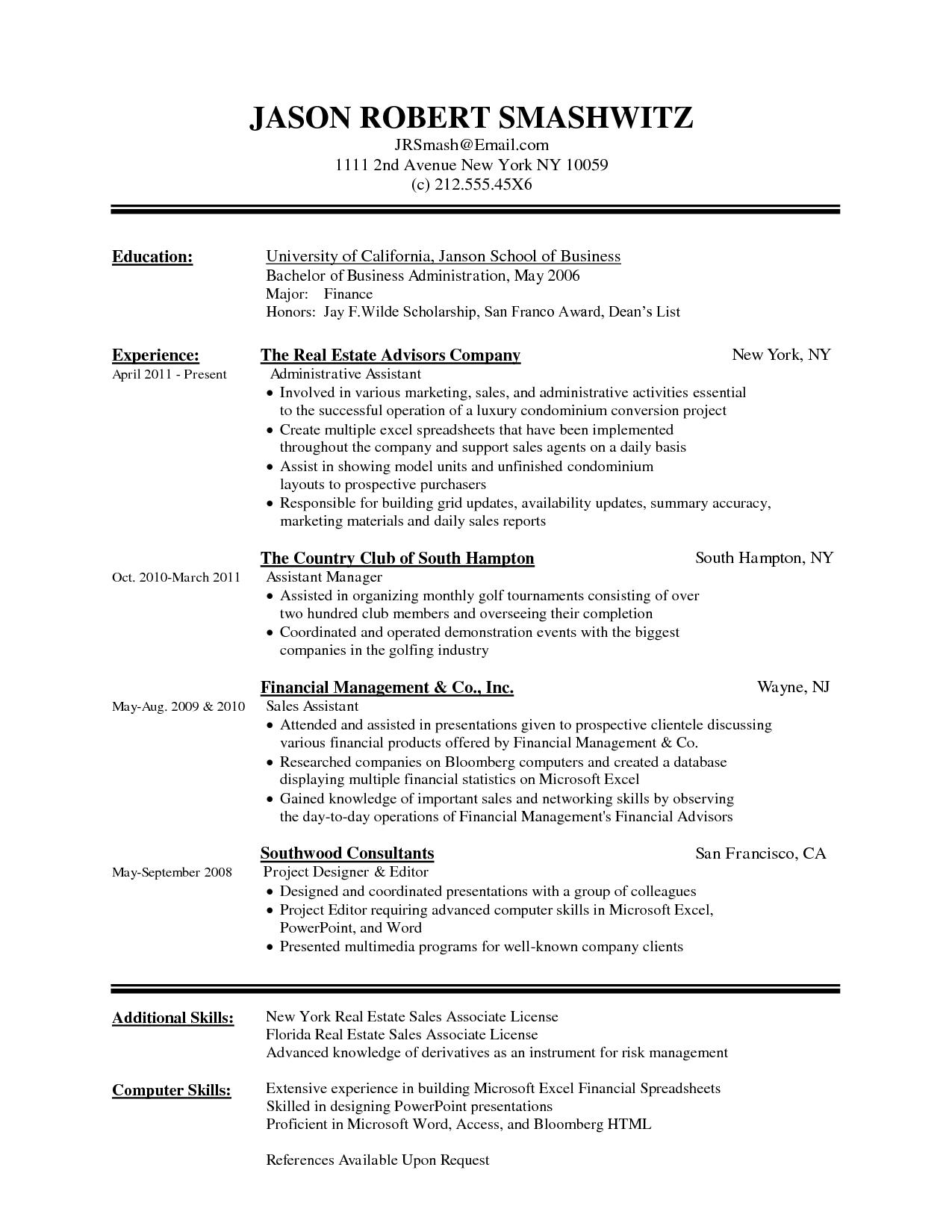 16 New Resume Examples Word by Ideas