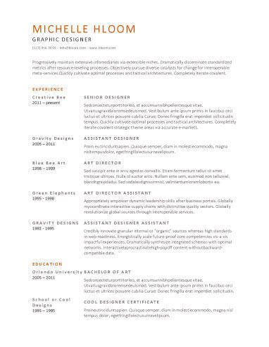 16 New Simple Resume Template Word for Graphics