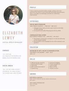 16 Stunning Great Looking Resume Templates with Gallery
