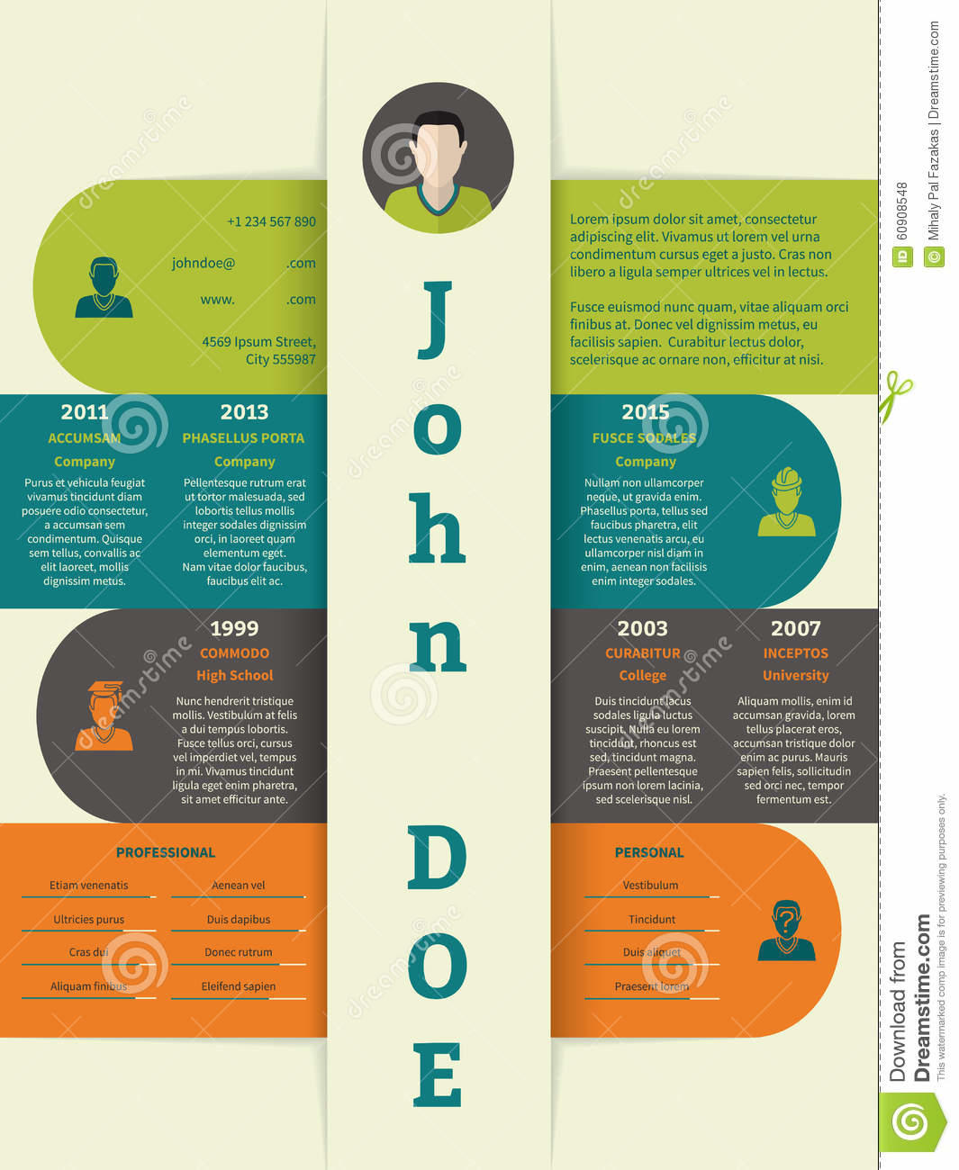 17 Awesome Modern Curriculum Vitae for Pictures
