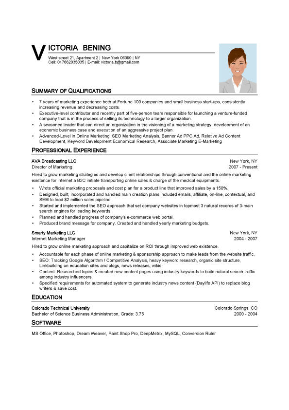 17 Lovely Resume Examples Word with Images