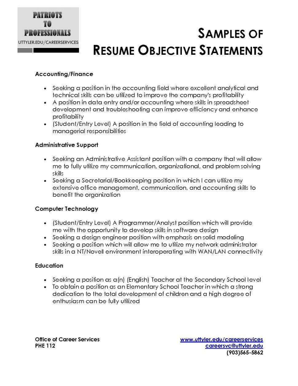 18 Awesome Customer Service Resume Objective Or Summary Examples for Gallery