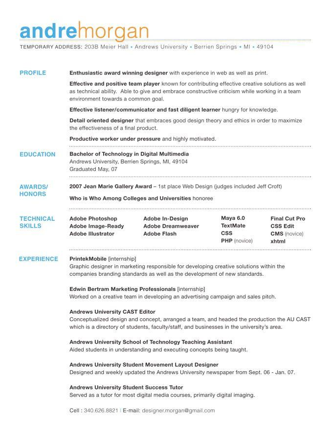18 Beautiful Good Resume Layout by Pics