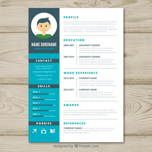 18 Beautiful Graphic Resume Template for Pictures