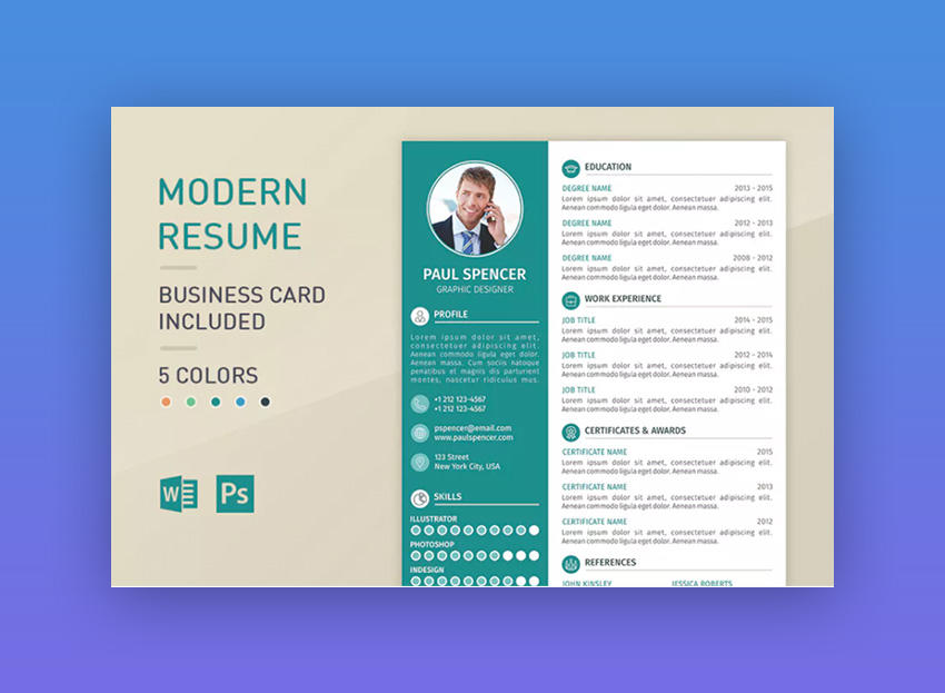 18 Great Modern Resume Sample by Pictures