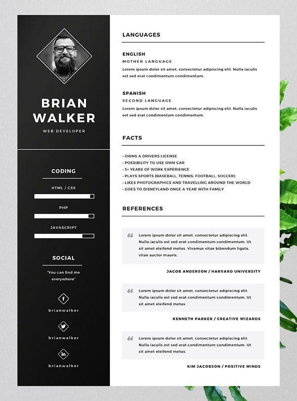 18 Lovely Cv Template Gratis by Design