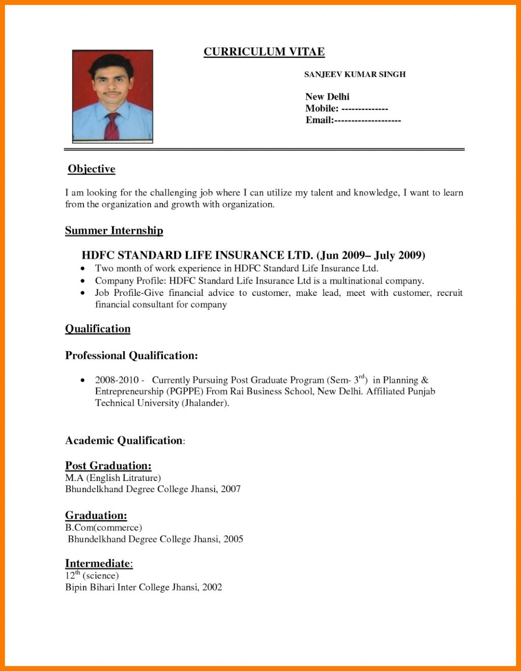 19 Beautiful Interview Resume Format with Design