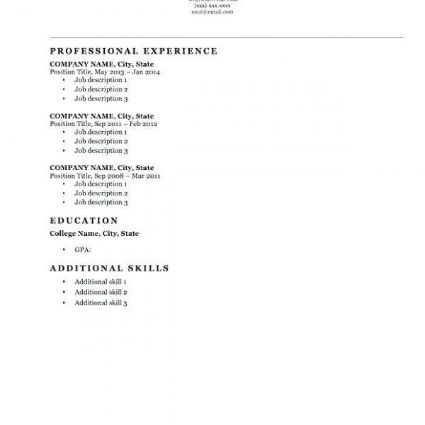 19 Beautiful Resume Format Examples for Gallery