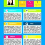 19 Excellent Colorful Resume Templates Word for Ideas
