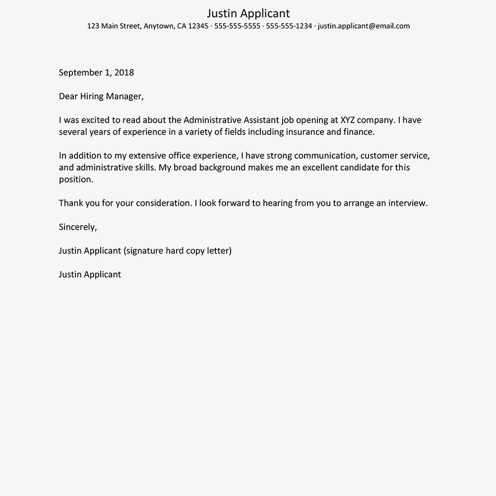 20 Beautiful Administration Cover Letter Sample with Gallery