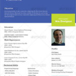 20 Cool One Page Cv Template by Pictures