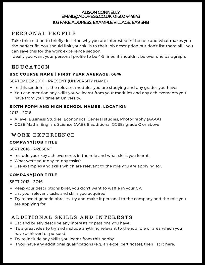 20 Great How To Write A Cv Examples for Pics