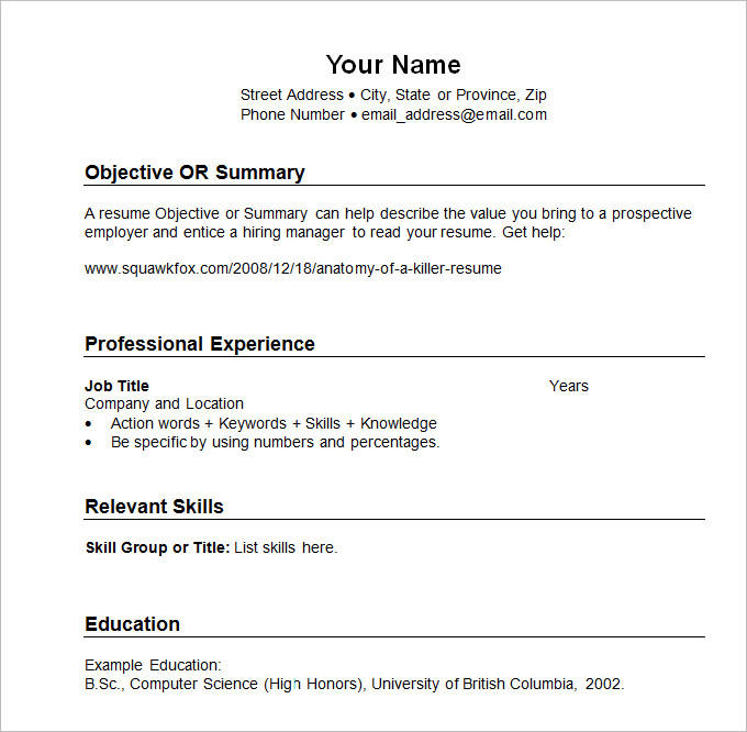 20 Lovely Chronological Resume Template for Pictures