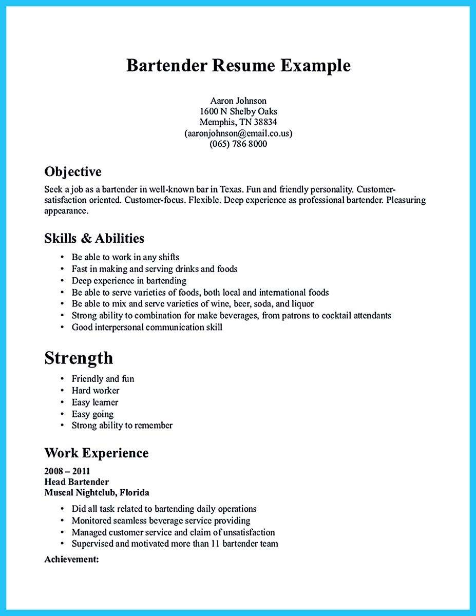 20 New Busboy Resume by Design
