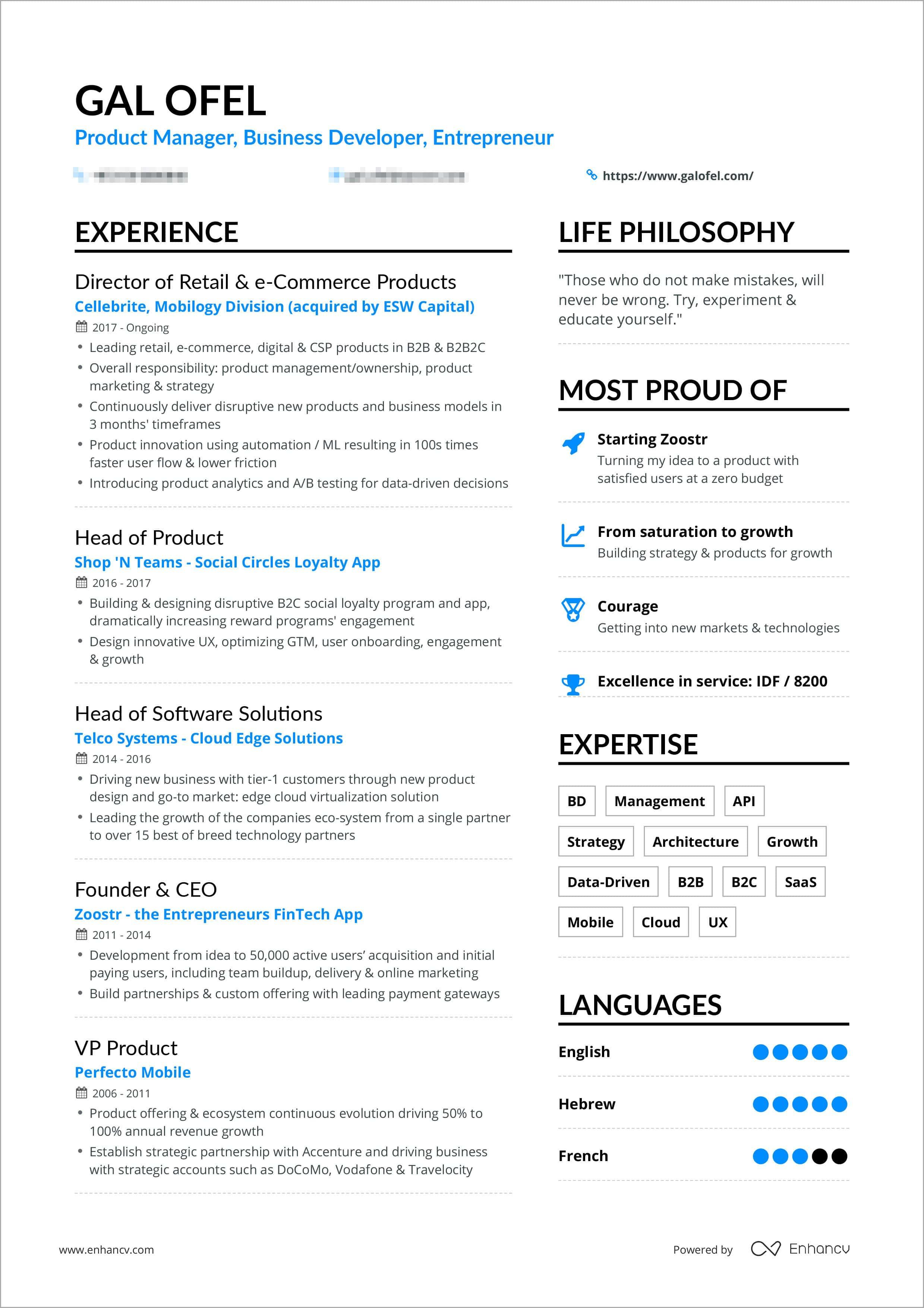 20 New One Page Resume Site for Ideas