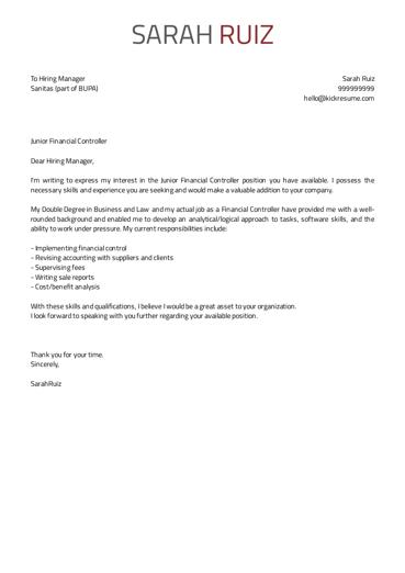20 New What Is A Cover Letter Example for Gallery
