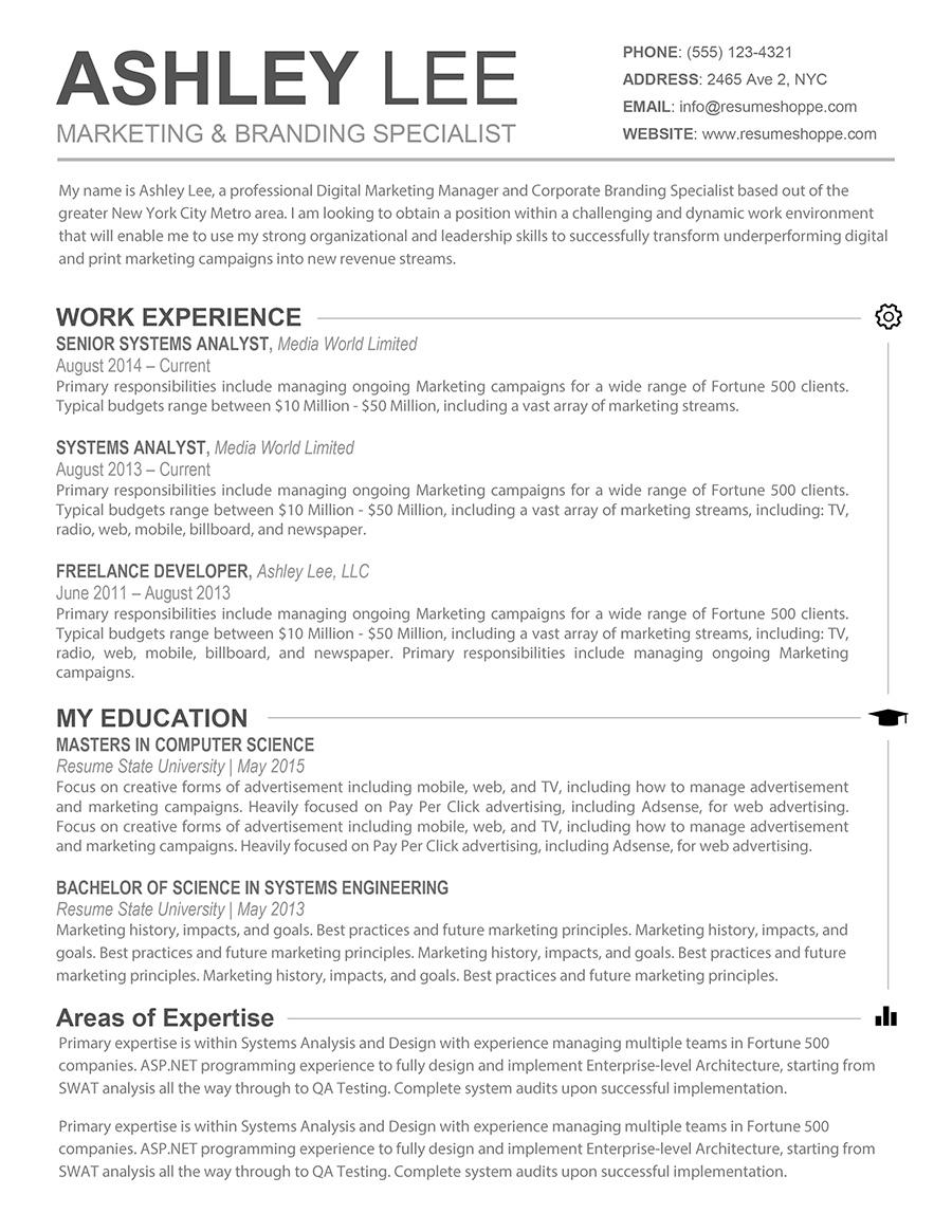20 Stunning Free Resume Templates For Mac by Images