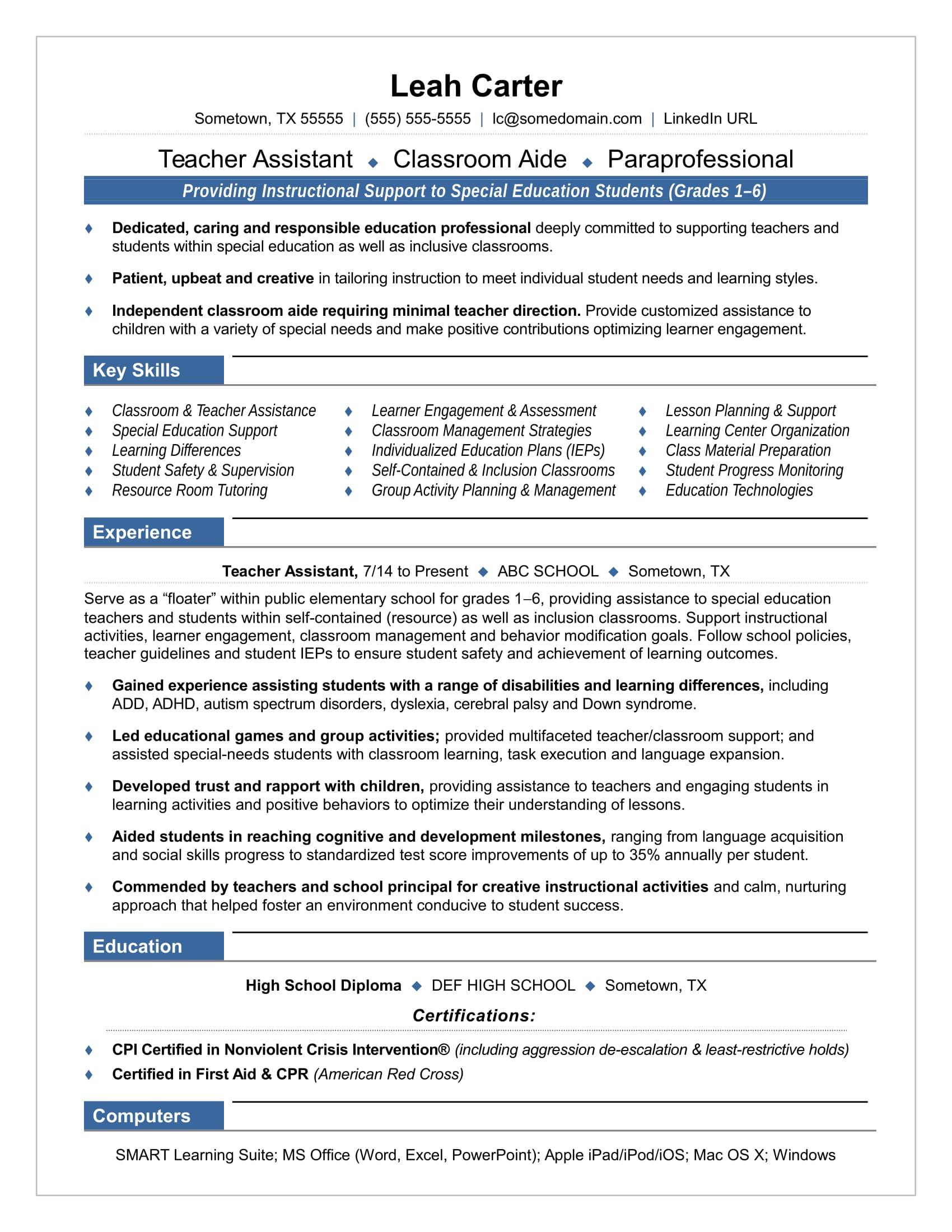 21 awesome child care educator resume sample australia for