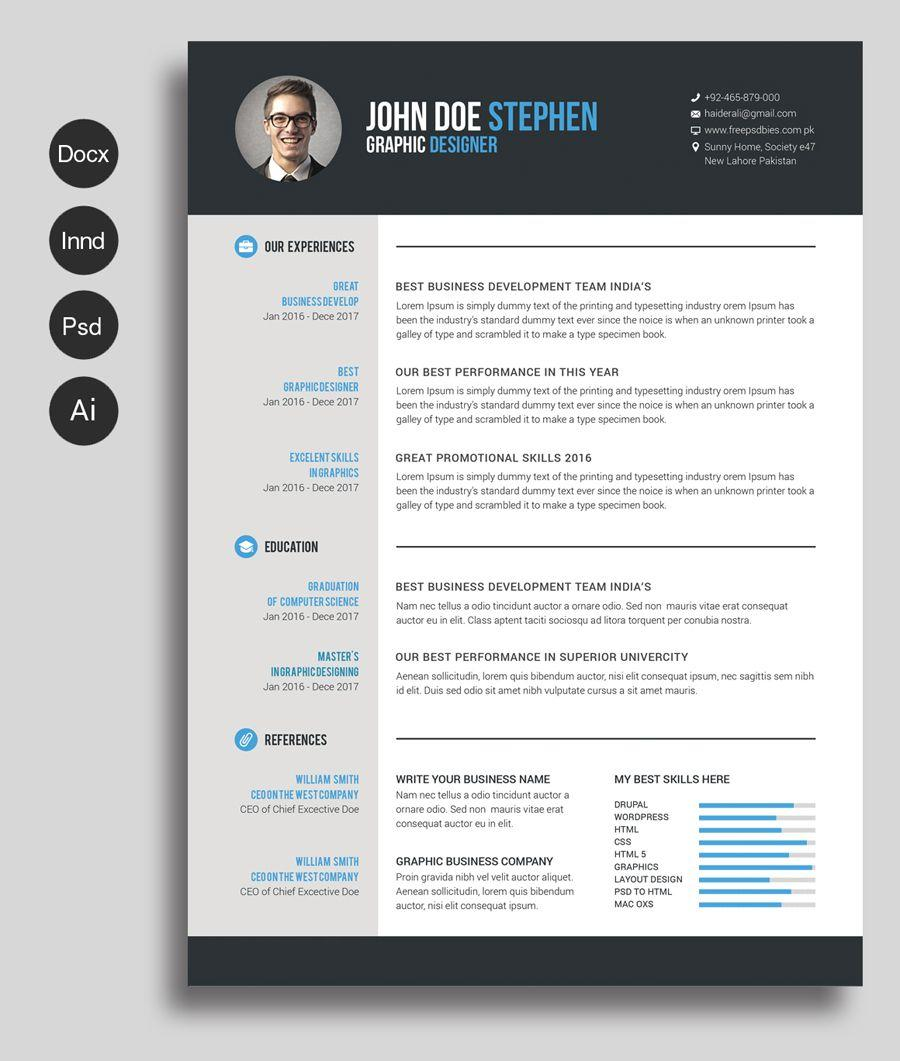 21 Beautiful Professional Cv Format In Ms Word for Design
