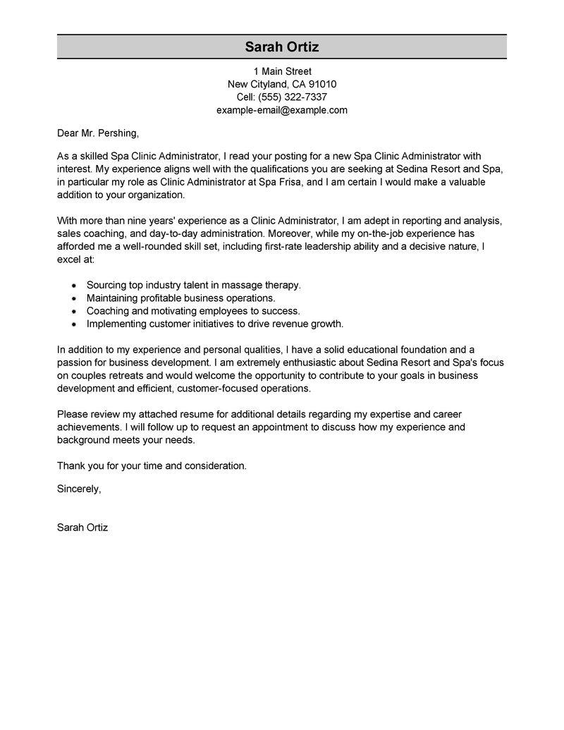 21 Best Administration Cover Letter Sample with Design