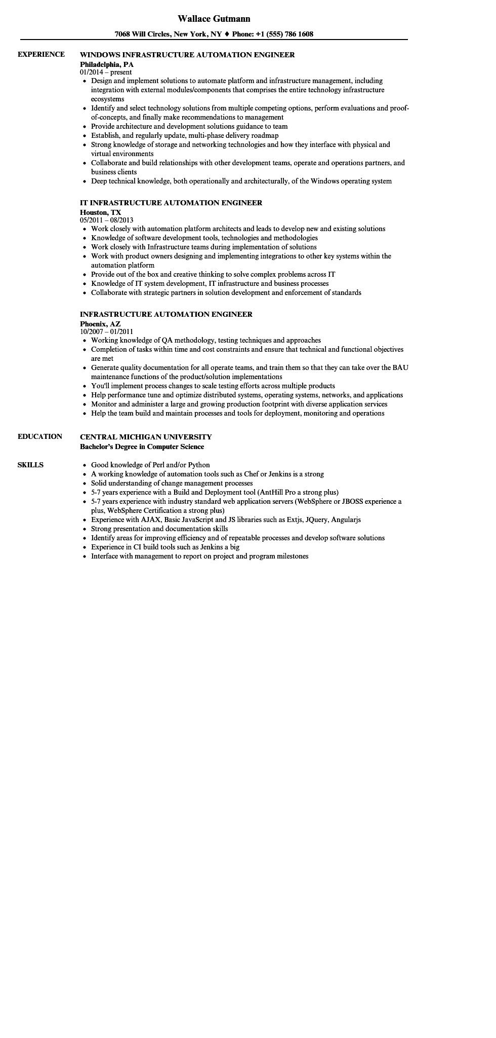 21 Excellent Automation Engineer Resume by Gallery