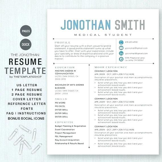 21 Excellent Free Pages Resume Templates for Pictures