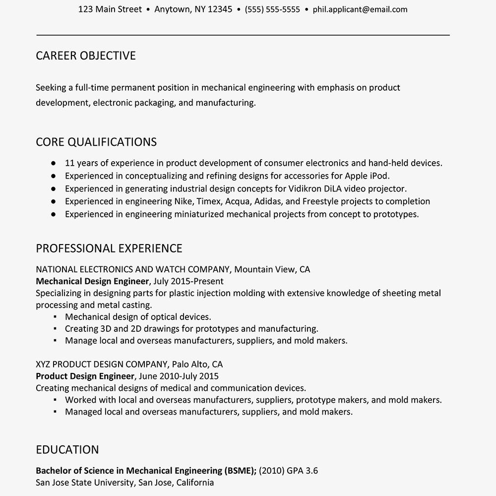 21 New Mechanical Engineer Resume Sample for Pictures