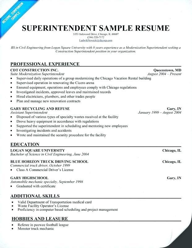 21 Top Construction Superintendent Resume Cover Letter Examples for Pictures