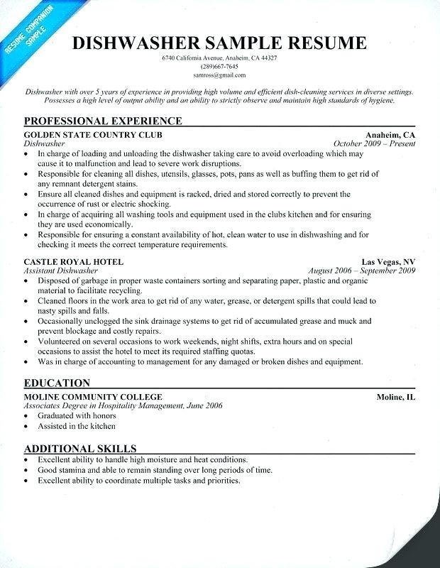 22 Lovely Busboy Resume by Pictures