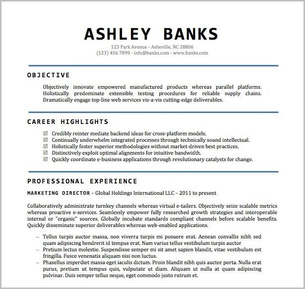 22 Stunning Resume Template Word Doc Free for Images