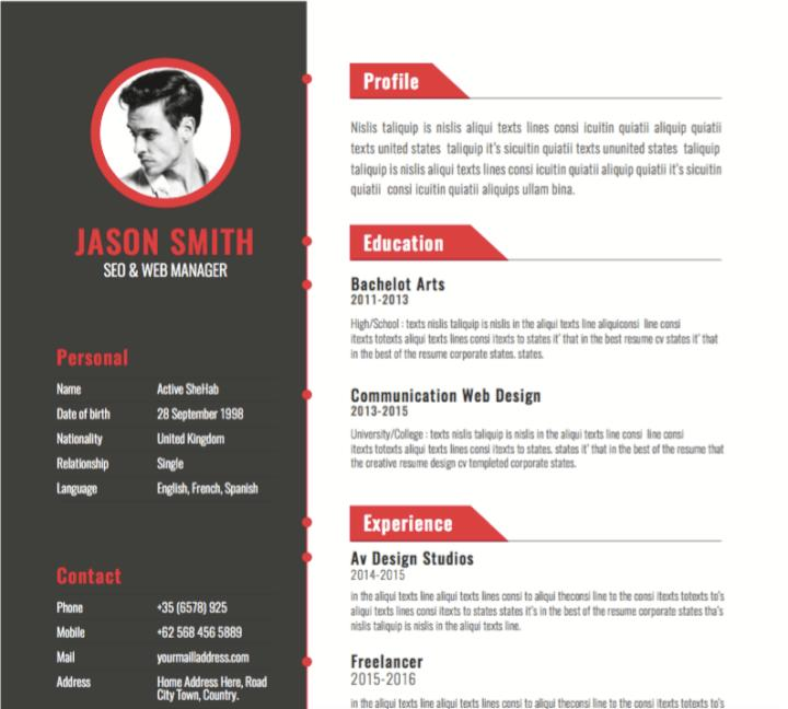 23 Excellent Best Resume Design with Ideas