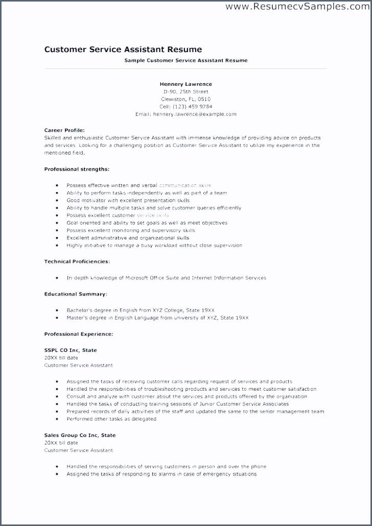 23 New Customer Service Resume Objective Or Summary Examples with Gallery