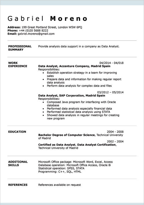 23 Stunning Resume Examples Word with Images